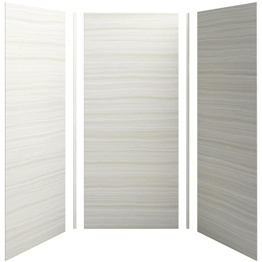 KOHLER Choreograph Veincut Dune Shower Wall Surround Side And Back Wall Kit (Common: 42-in x 42-in; Actual: 96-in x 42-in x 42-in)