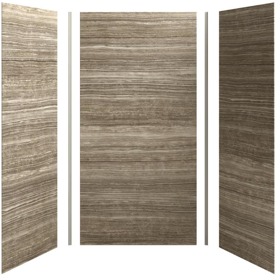 KOHLER Choreograph Veincut Sandbar Shower Wall Surround Side and Back Panels (Common: 48-in x 36-in; Actual: 96-in x 48-in x 36-in)