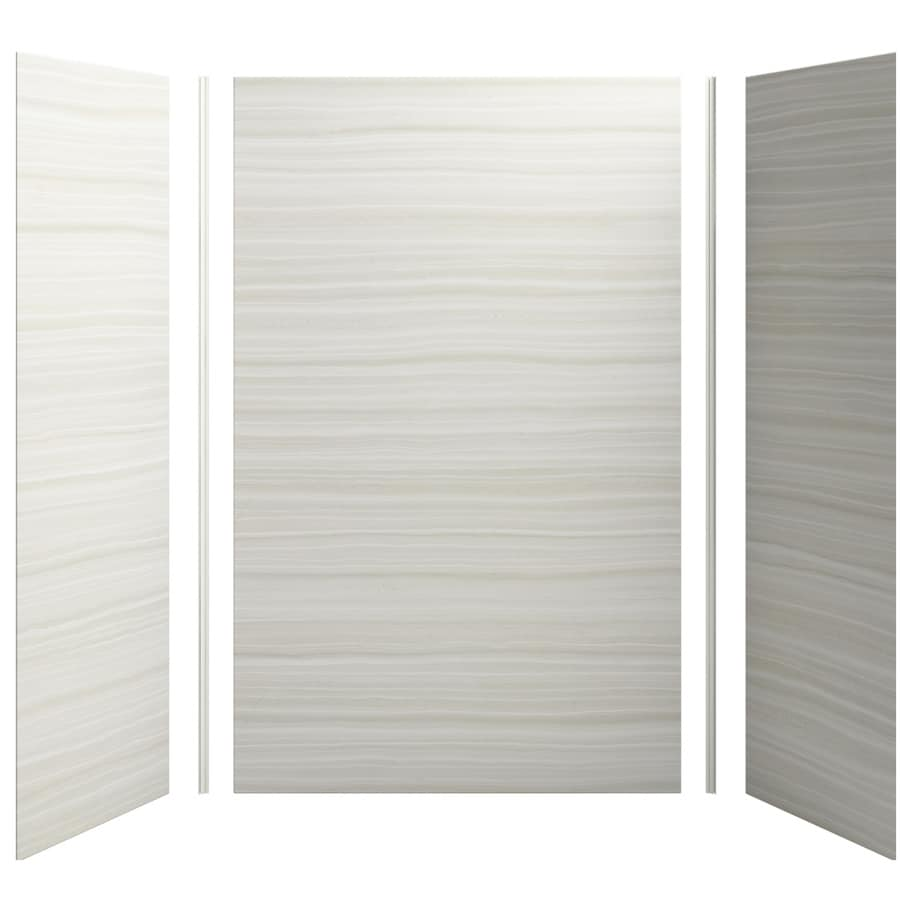 KOHLER Choreograph Veincut Dune Shower Wall Surround Side and Back Panels (Common: 60-in x 32-in; Actual: 96-in x 60-in x 32-in)