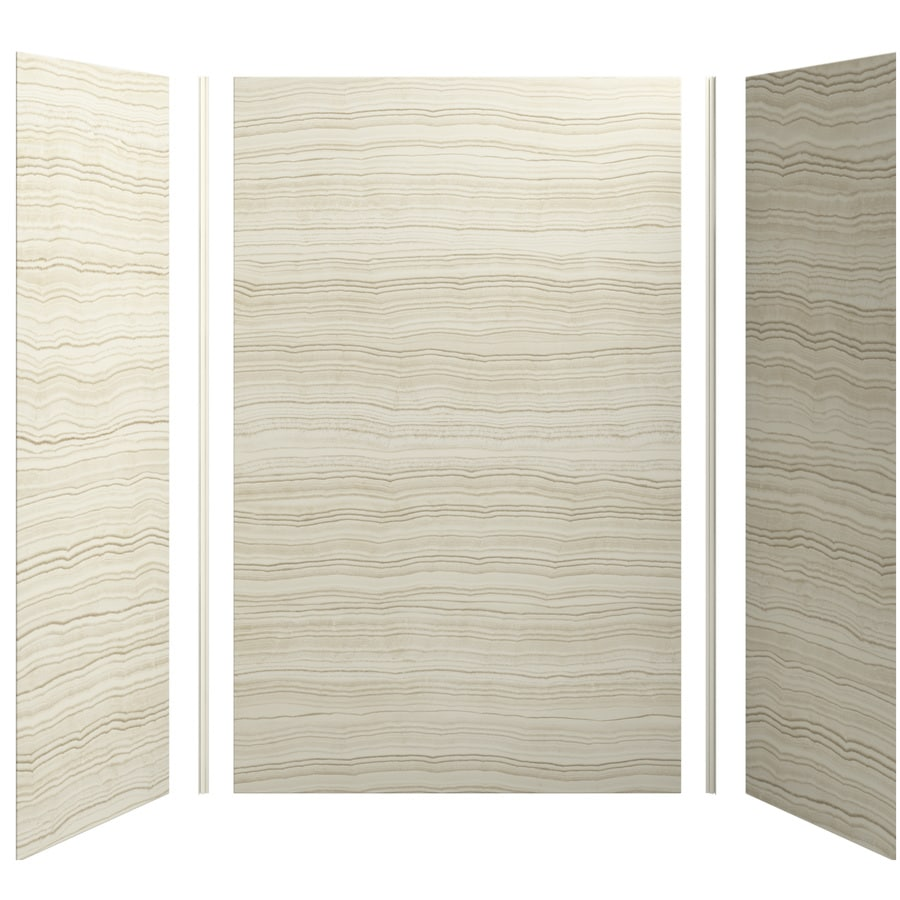 KOHLER Choreograph Veincut Biscuit Shower Wall Surround Side and Back Panels (Common: 60-in x 32-in; Actual: 96-in x 60-in x 32-in)