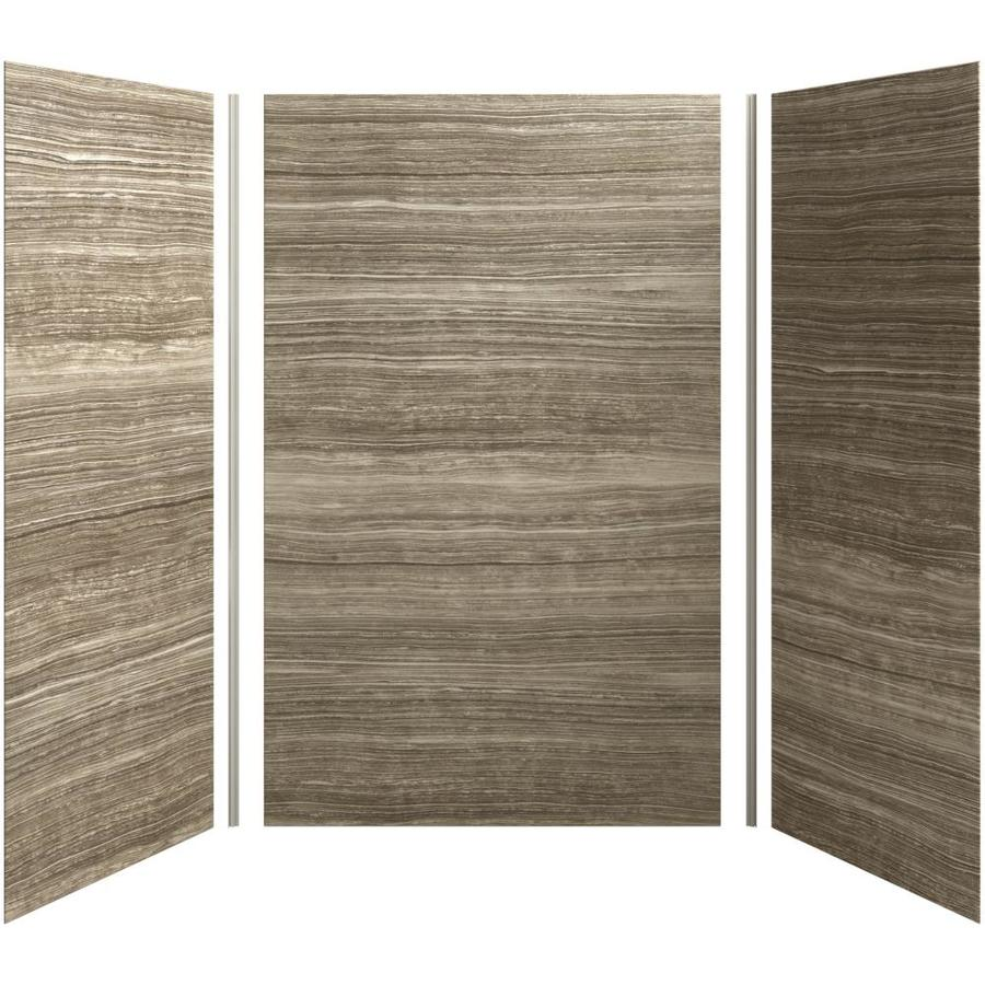 KOHLER Choreograph Veincut Sandbar Shower Wall Surround Side and Back Panels (Common: 60-in x 42-in; Actual: 96-in x 60-in x 40-in)