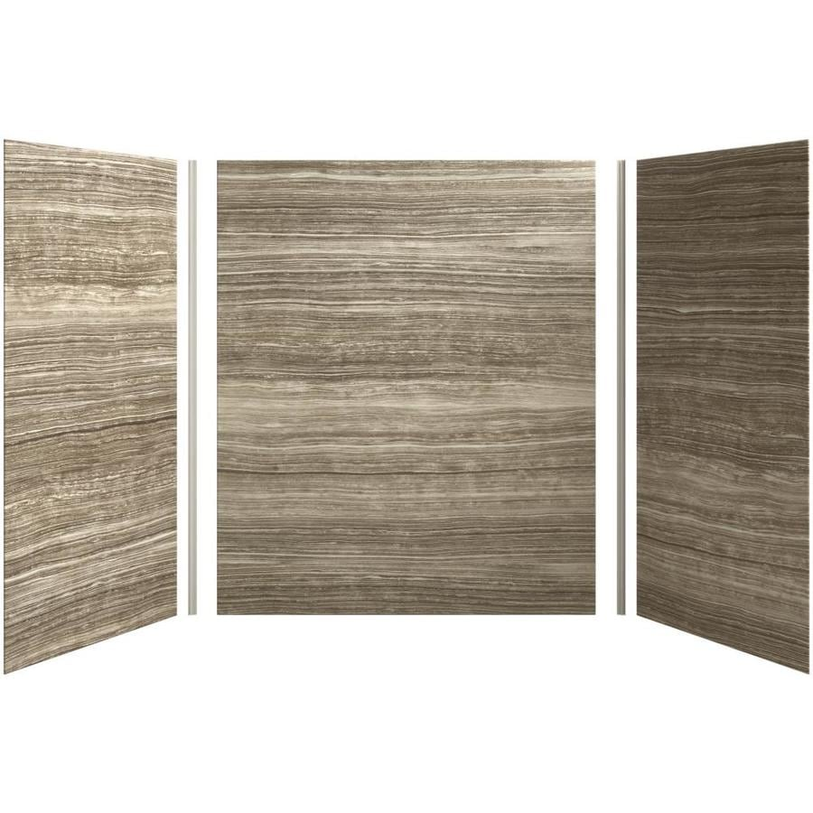 KOHLER Choreograph Veincut Sandbar Shower Wall Surround Side and Back Panels (Common: 60-in x 36-in; Actual: 72-in x 60-in x 36-in)