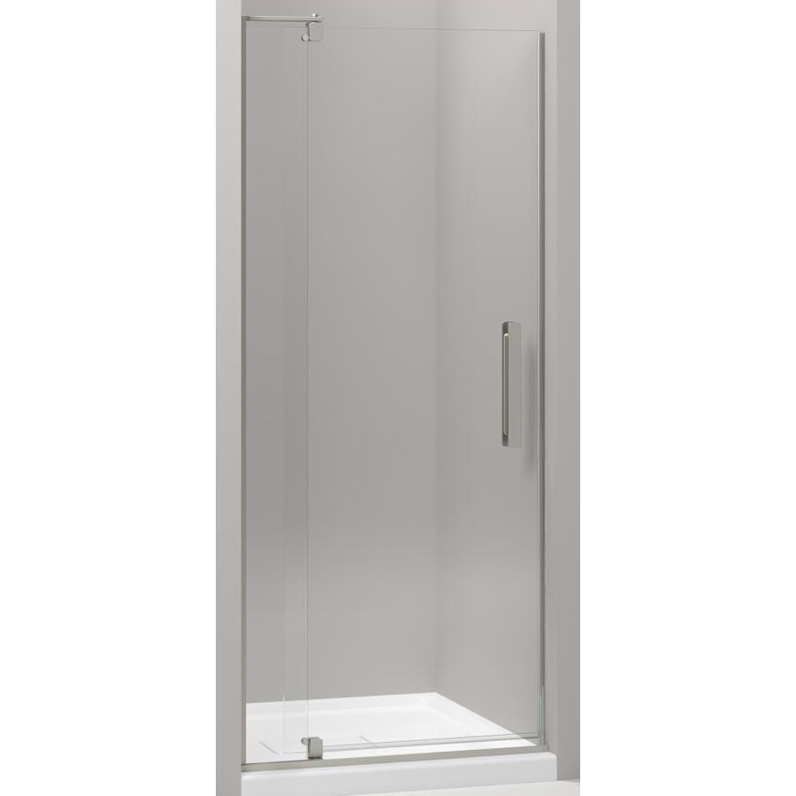 Kohler Revel 27 4375 In To 31 125 In W Frameless Anodized