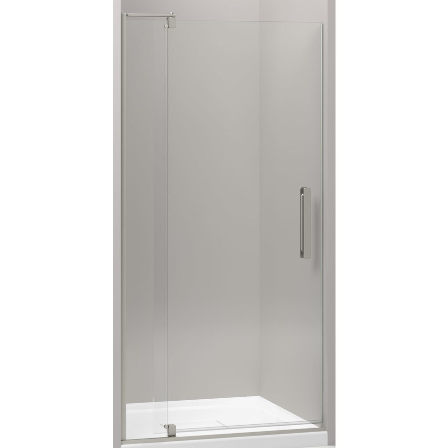 Kohler Revel 31 125 In To 36 In W Frameless Anodized