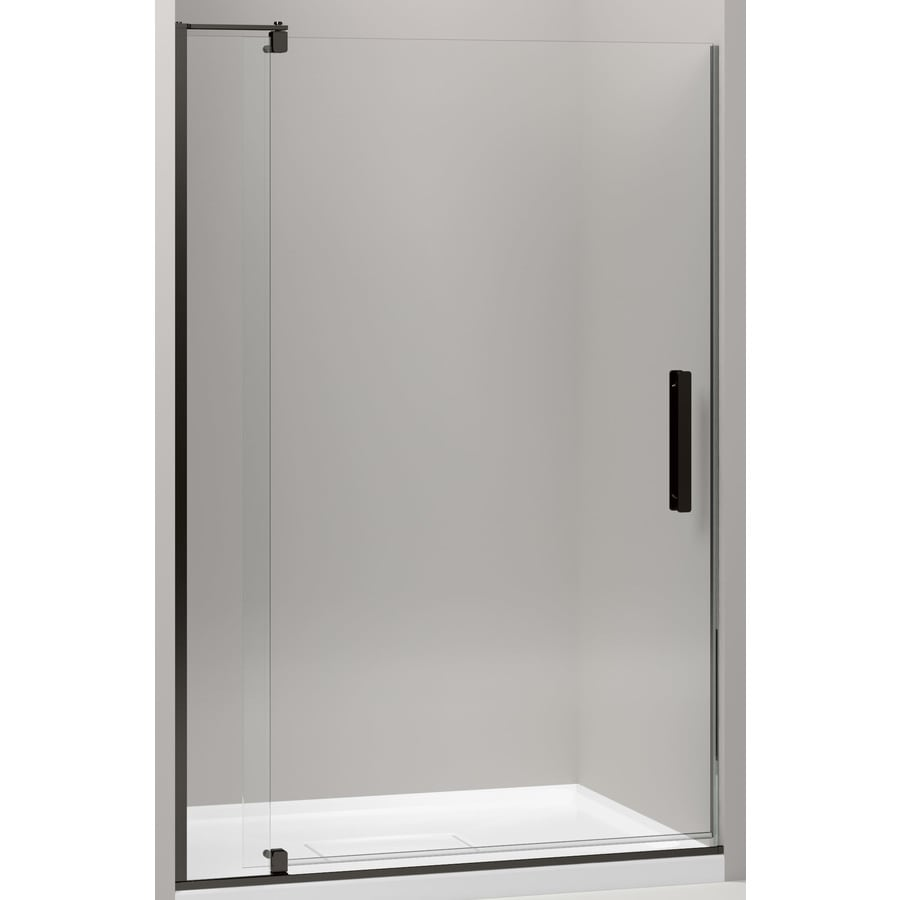 KOHLER Revel 39.125-in to 44-in Frameless Pivot Shower Door