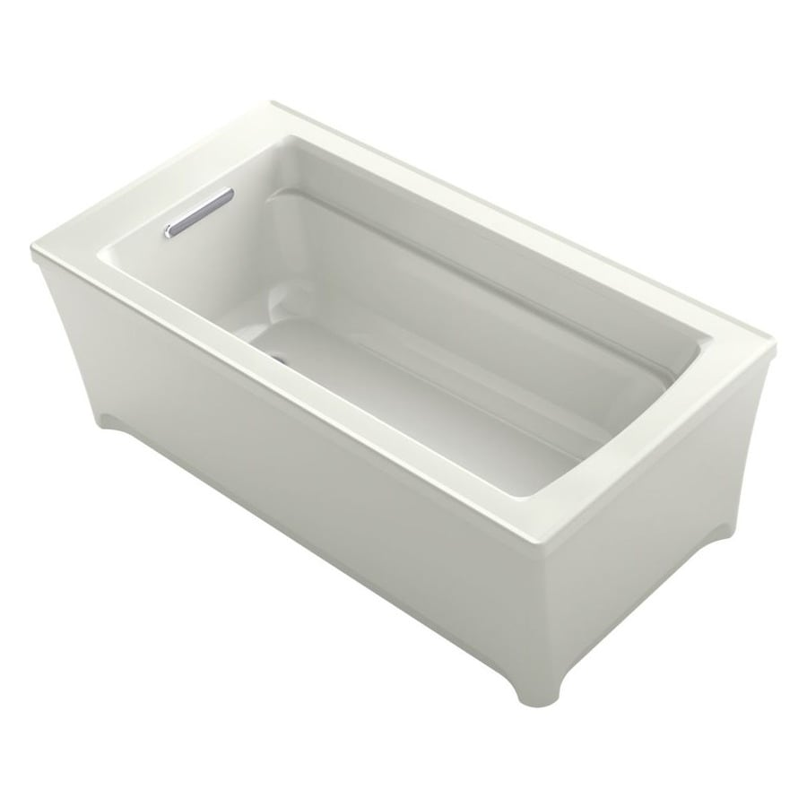 KOHLER Archer Dune Acrylic Rectangular Freestanding Bathtub with Reversible Drain (Common: 32-in x 62-in; Actual: 22-in x 32-in x 62-in)