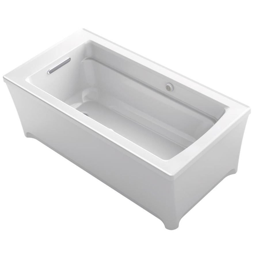 KOHLER Archer 62-in L x 32-in W x 22-in H White Acrylic Rectangular Freestanding Air Bath