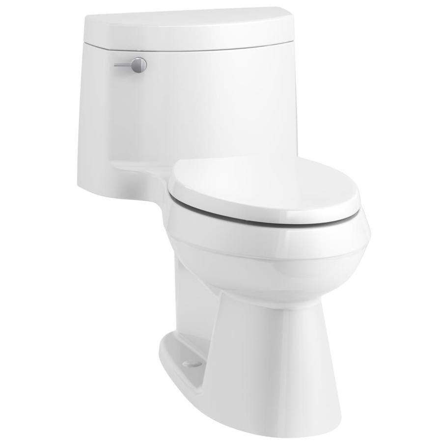 KOHLER Cimarron 1.28 White WaterSense Elongated Chair Height 1-Piece Toilet