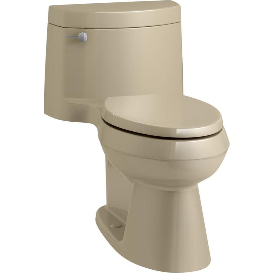 KOHLER Cimarron Mexican Sand WaterSense Labeled  Elongated Chair Height 1-piece Toilet 12-in Rough-In Size