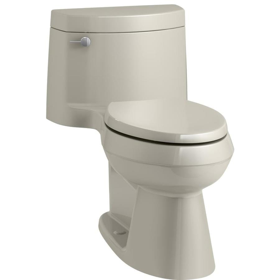 KOHLER Cimarron Thunder Grey WaterSense Labeled  Elongated Chair Height 1-piece Toilet 12-in Rough-In Size