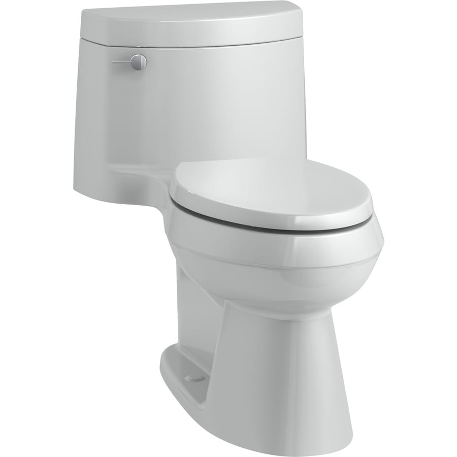 KOHLER Cimarron 1.28-GPF (4.85-LPF) Ice Grey Elongated Chair Height 1-piece Toilet