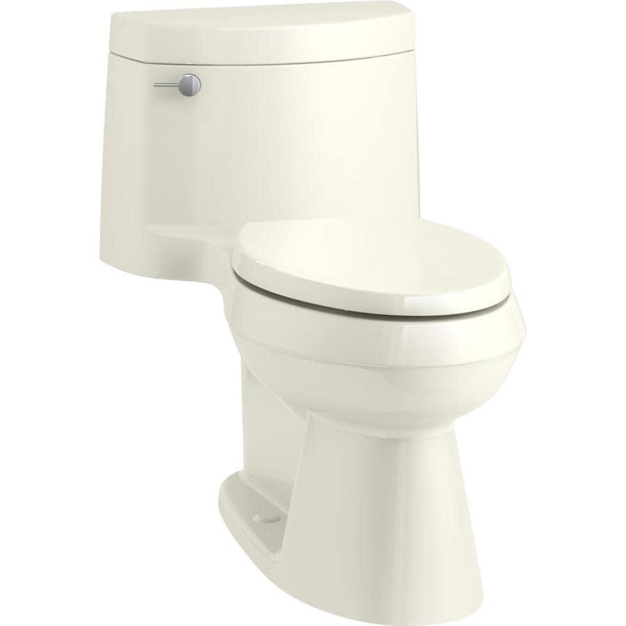 KOHLER Cimarron 1.28-GPF (4.85-LPF) Biscuit Elongated Chair Height 1-piece Toilet