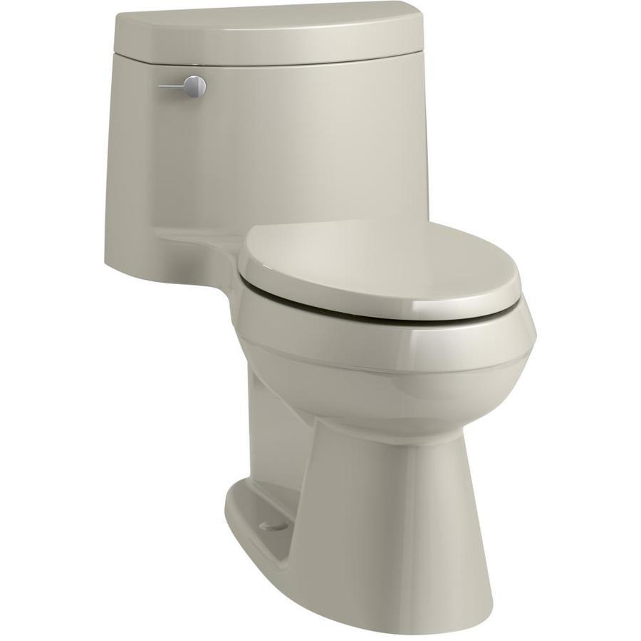 KOHLER Cimarron Sandbar WaterSense Labeled  Elongated Chair Height 1-piece Toilet 12-in Rough-In Size