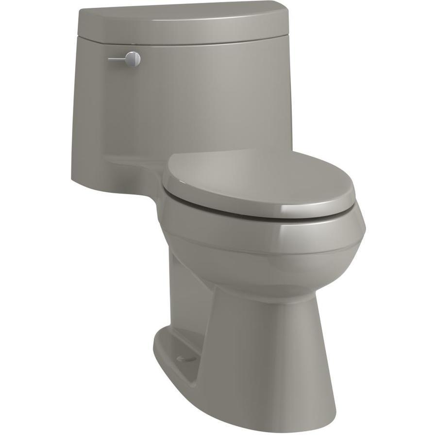 KOHLER Cimarron 1.28 Cashmere WaterSense Elongated Chair Height 1-Piece Toilet