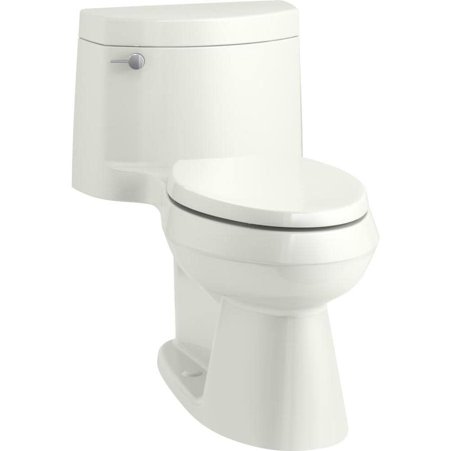 KOHLER Cimarron 1.28-GPF (4.85-LPF) Dune WaterSense Elongated Chair Height 1-Piece Toilet