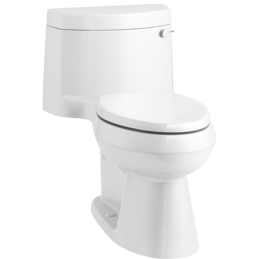 KOHLER Cimarron 1.28-GPF (4.85-LPF) White WaterSense Elongated Chair Height 1-Piece Toilet
