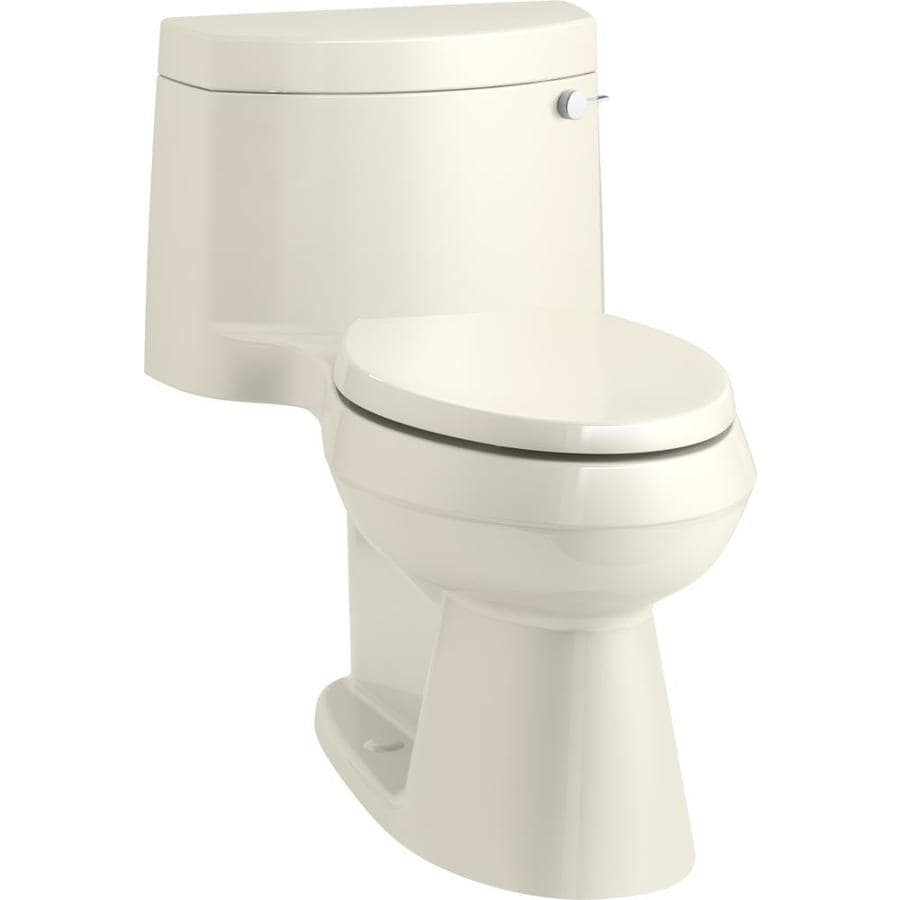 KOHLER Cimarron 1.28 Almond WaterSense Elongated Chair Height 1-Piece Toilet
