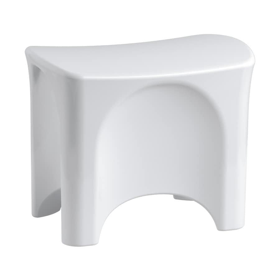 Sterling White Composite Freestanding Shower Seat