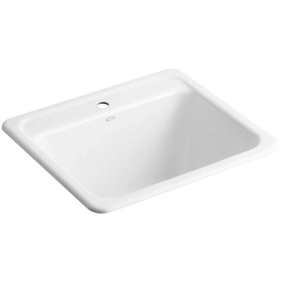 Undermount Utility Sink White : ... 25-in Single-Basin White Undermount Cast Iron Utility Tub at Lowes.com