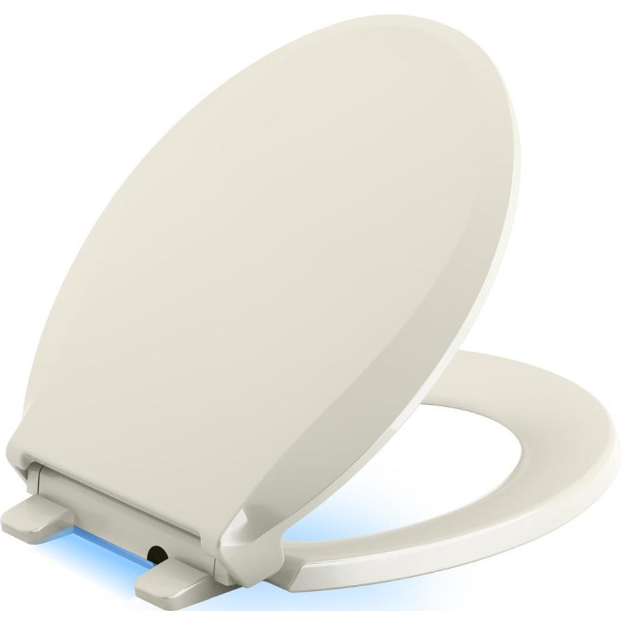 KOHLER Cachet Nightlight Plastic Round Slow-Close Toilet Seat