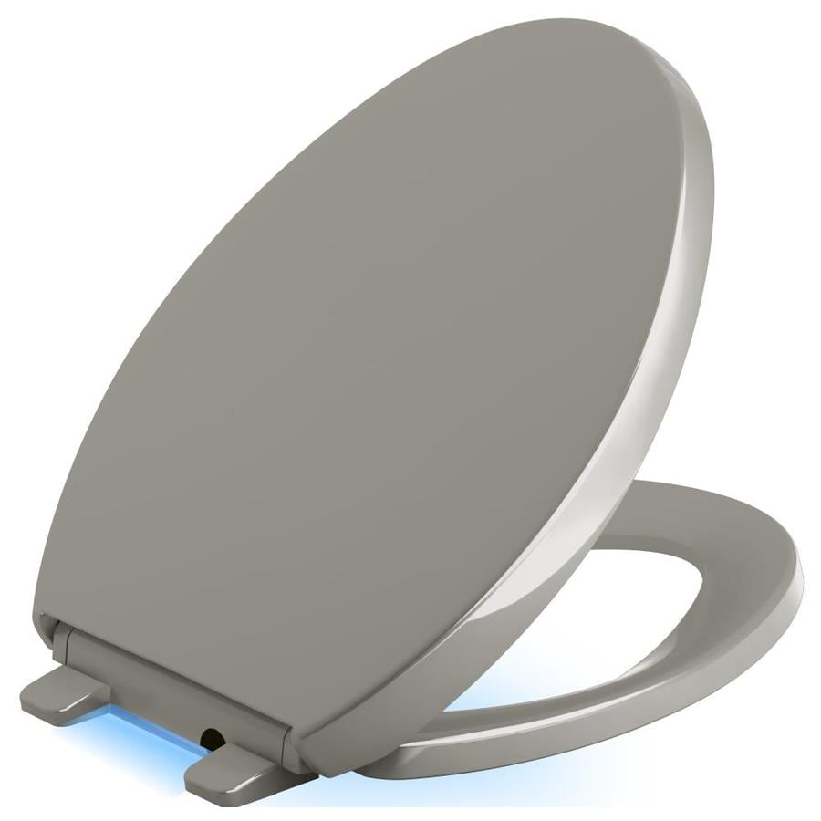 KOHLER Reveal Plastic Elongated Slow-Close Toilet Seat