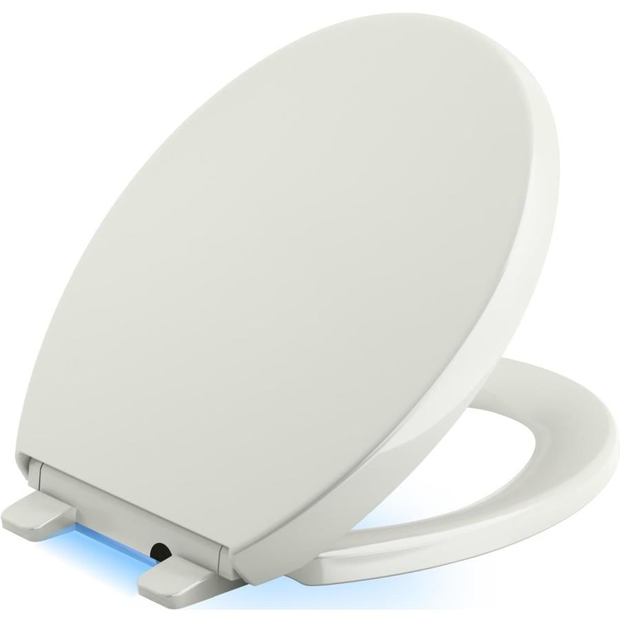 KOHLER Reveal Plastic Round Slow-Close Toilet Seat