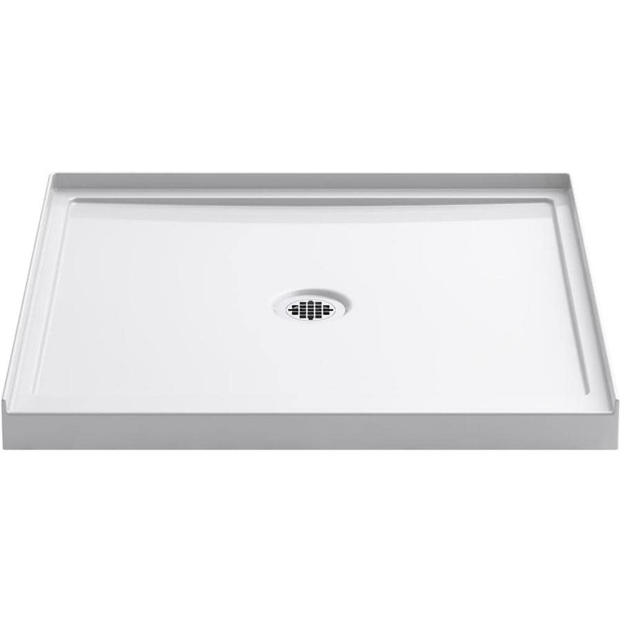 KOHLER Rely White Acrylic Shower Base (Common: 34-in W x 34-in L; Actual: 34-in W x 35-in L)