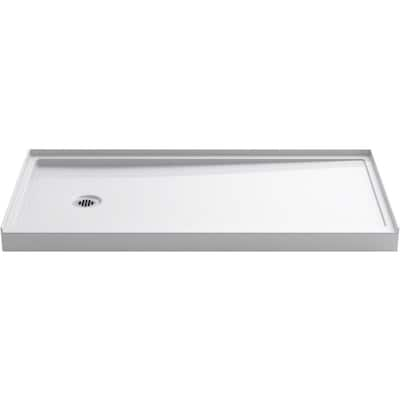 Rely White Acrylic Shower Base 30 In W X 60 L With Left Drain