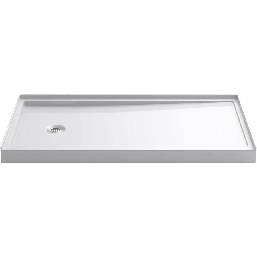 Shop Kohler Rely White Acrylic Shower Base Common 34 In