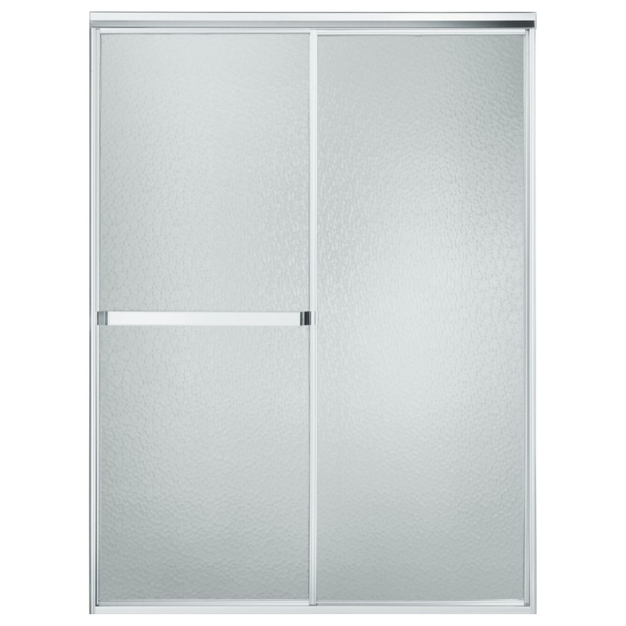 Sterling Standard 43-in to 48-in W x 65-in H Silver Sliding Shower Door