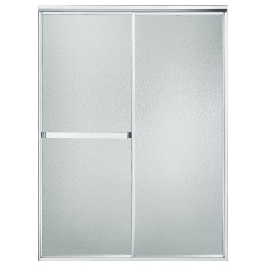 Sterling Standard 43-in to 48-in Framed Matte chrome Sliding Shower Door