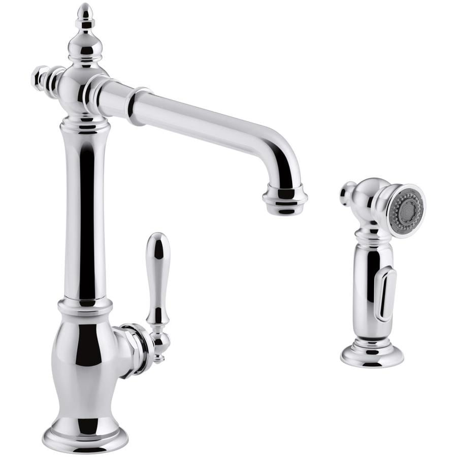Shop Kohler Artifacts Polished Chrome 1 Handle Deck Mount High Arc