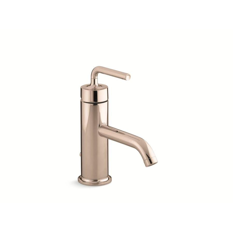 Kohler Purist Vibrant Rose Gold 1 Handle Single Hole