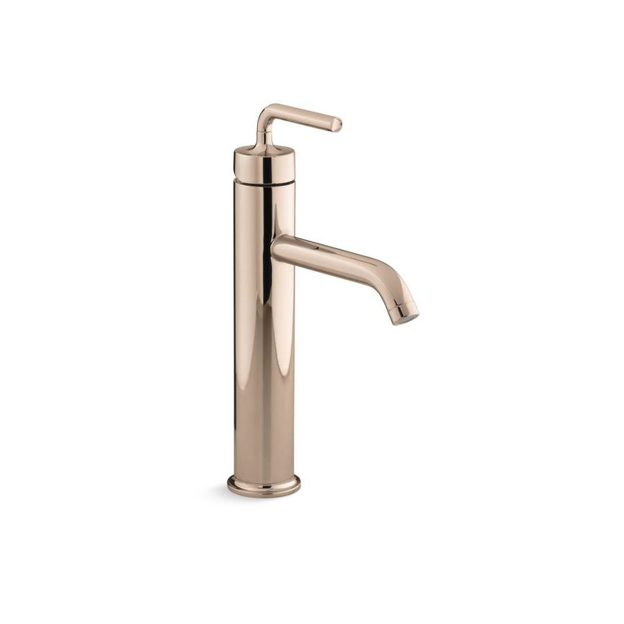 Shop KOHLER Purist Tall Single-Handle Bathroom Sink Faucet with ...