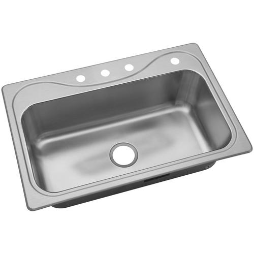 Sterling Southhaven 22-in x 33-in Single Bowl Drop-In 4 ...