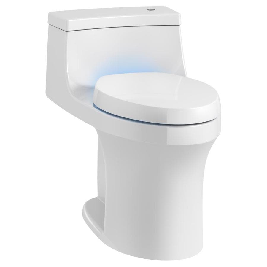 KOHLER San Souci 1.28-GPF (4.85-LPF) White WaterSense Elongated Chair Height 1-Piece Toilet
