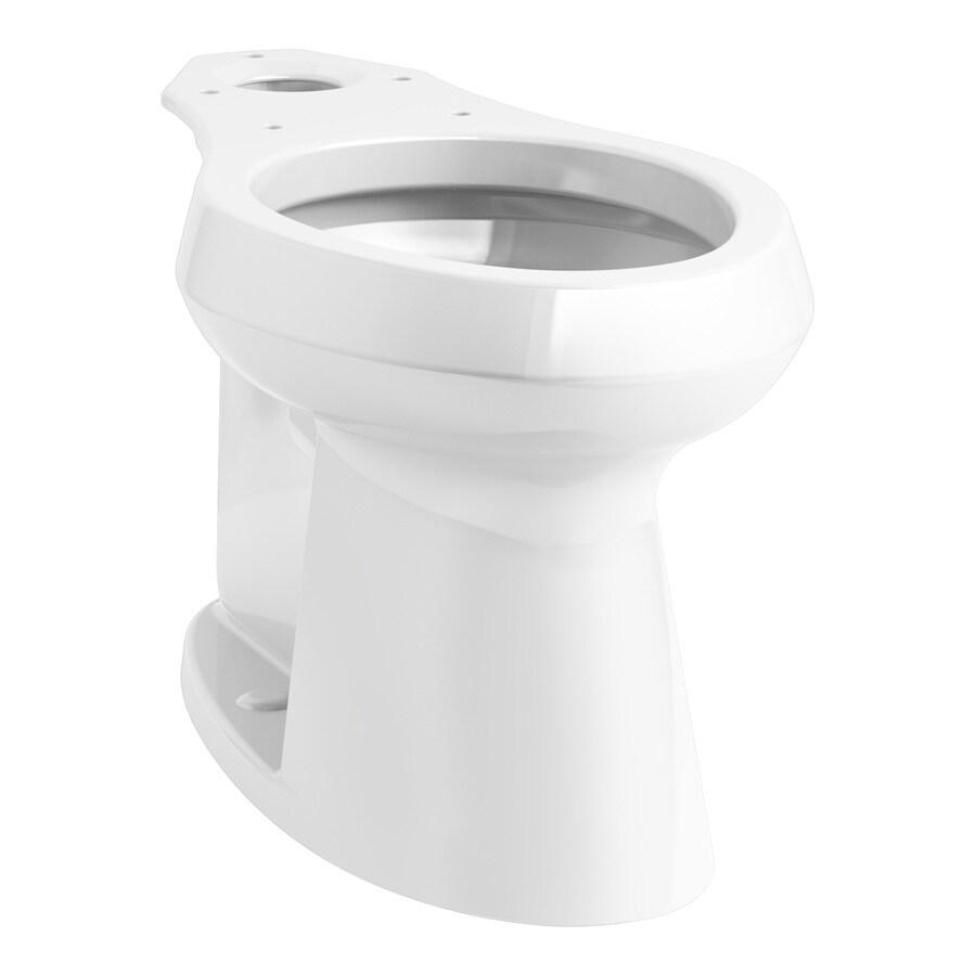 KOHLER Highline White Elongated Chair Height Toilet Bowl