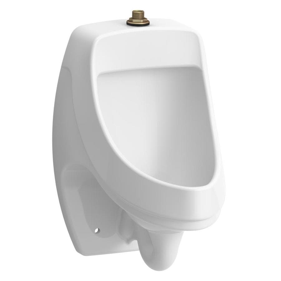 KOHLER 13.75-in W x 20.75-in H White Wall-Mounted WaterSense Urinal