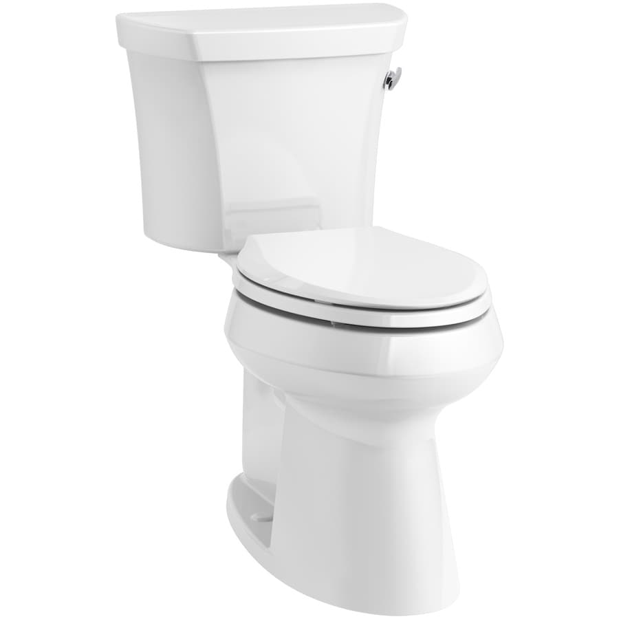KOHLER Highline 1.28 White WaterSense Elongated Chair Height 1-Piece Toilet