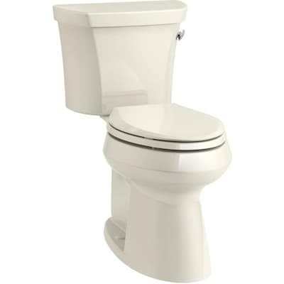 Kohler Highline Almond Watersense Elongated Chair Height