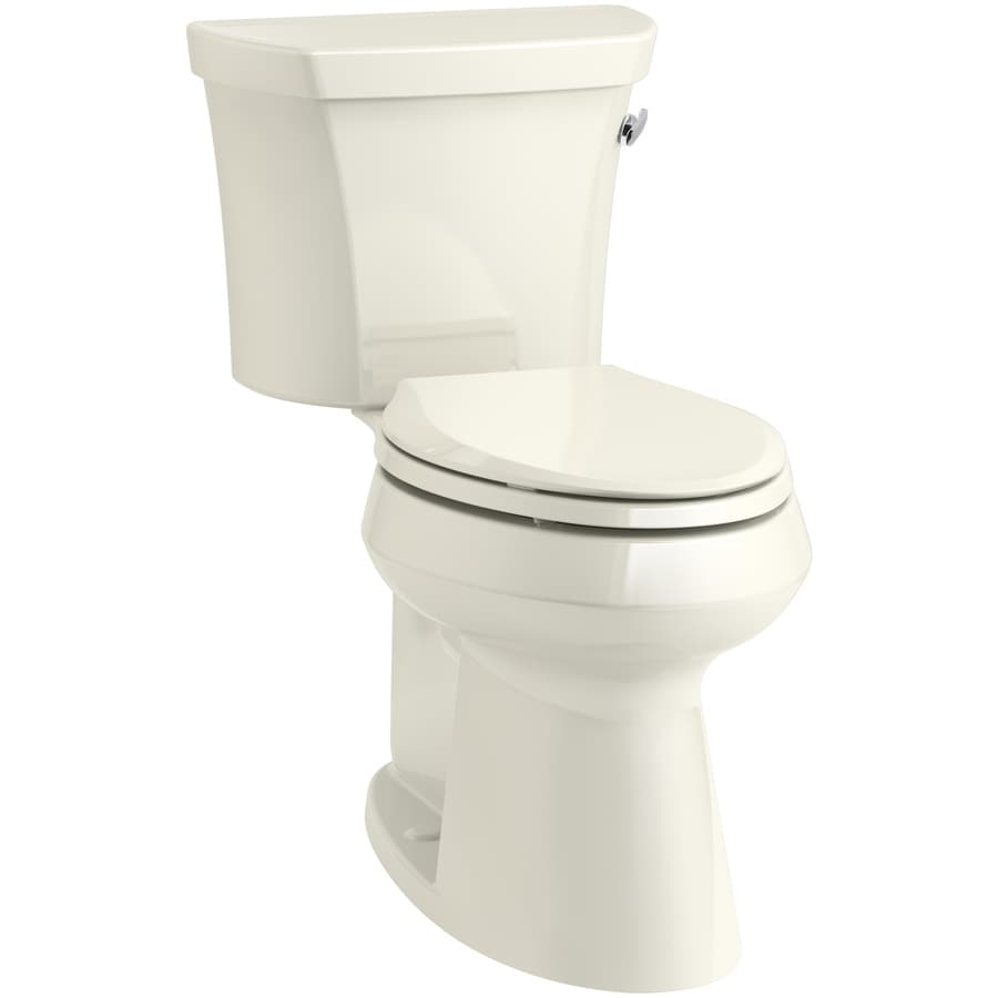KOHLER Highline 1.28-GPF (4.85-LPF) Biscuit Elongated Chair Height 1-piece Toilet