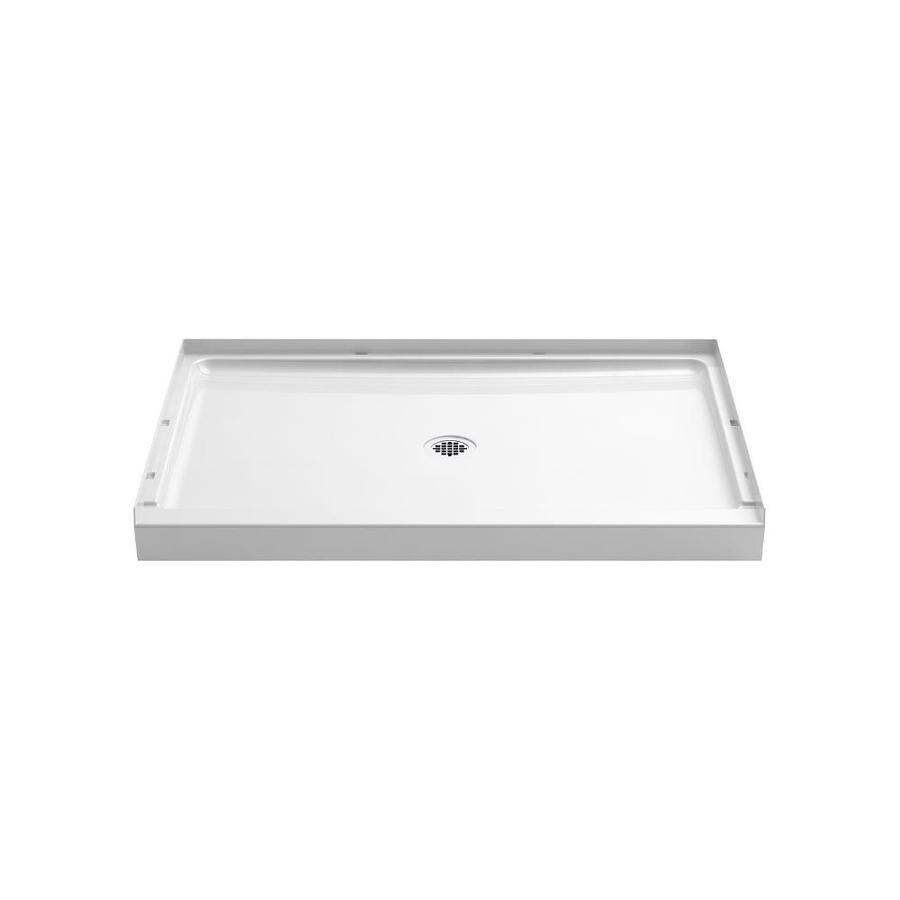 Sterling Guard+ White Vikrell Shower Base (Common: 48-in W x 34-in L; Actual: 48-in W x 34-in L)