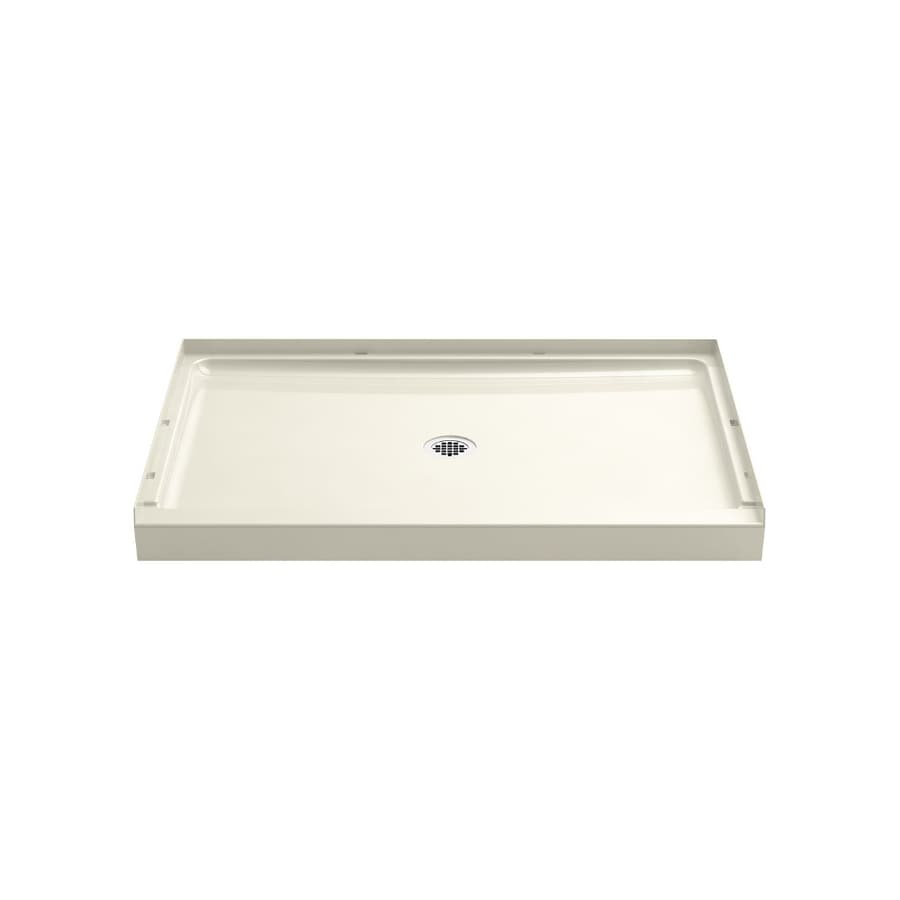 Sterling Guard+ Biscuit Vikrell Shower Base (Common: 48-in W x 34-in L; Actual: 48-in W x 34-in L) with Center Drain