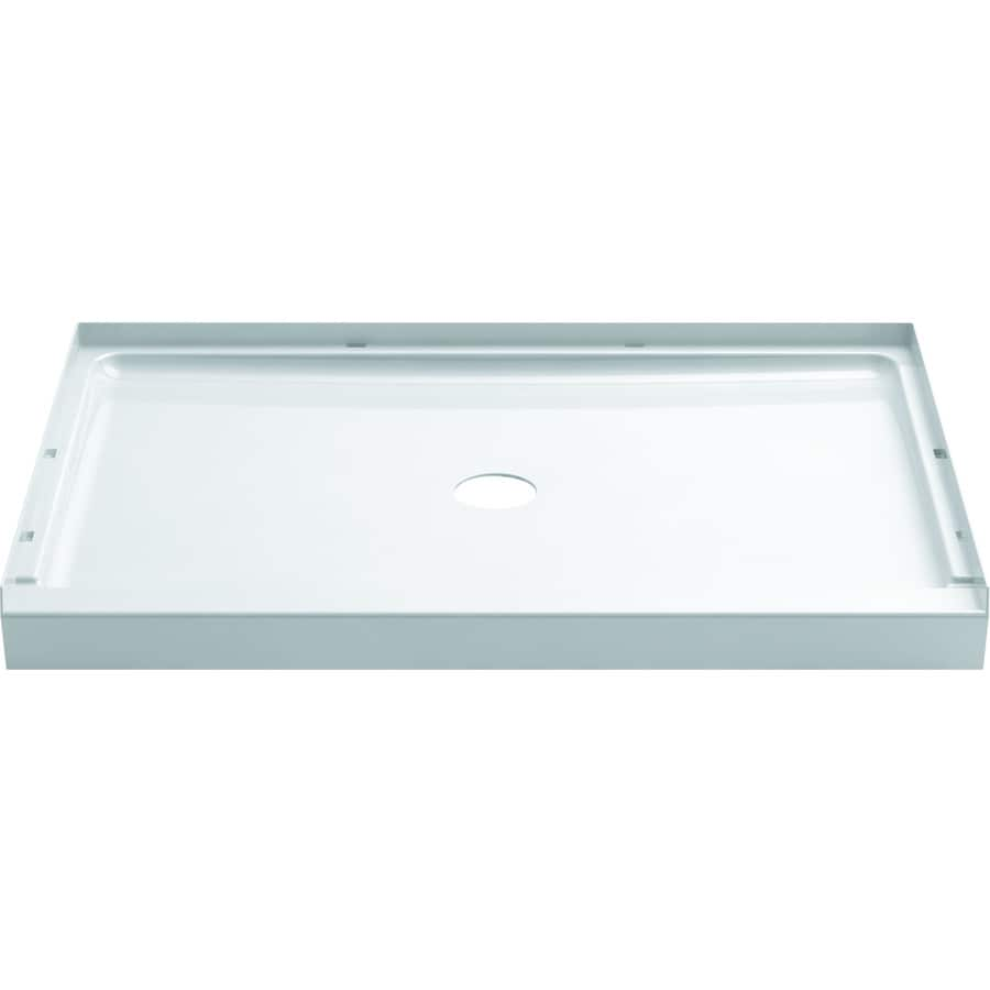 Sterling GUARD PLUS White Vikrell Shower Base (Common: 34-in W x 48-in L; Actual: 34-in W x 48-in L)