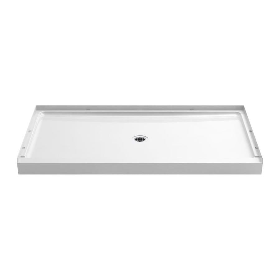 Sterling Guard+ White Vikrell Shower Base (Common: 60-in W x 34-in L; Actual: 60-in W x 34-in L)