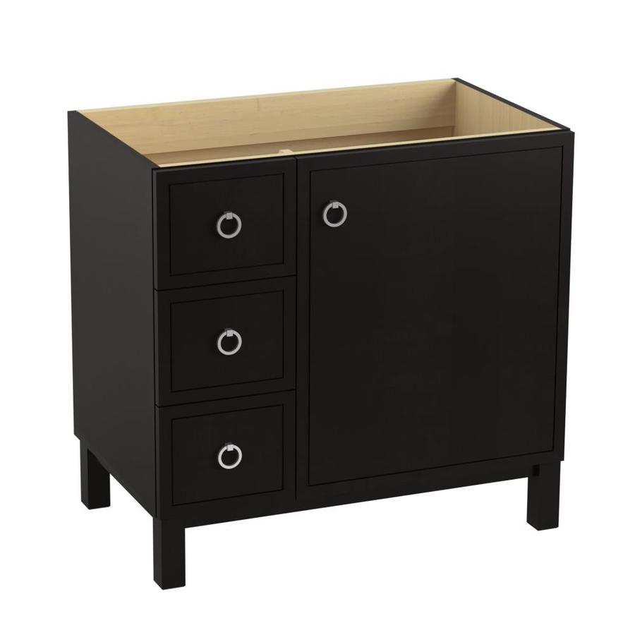KOHLER Jacquard Bastiste Black Bathroom Vanity (Common: 36-in x 22-in; Actual: 36-in x 21.87-in)