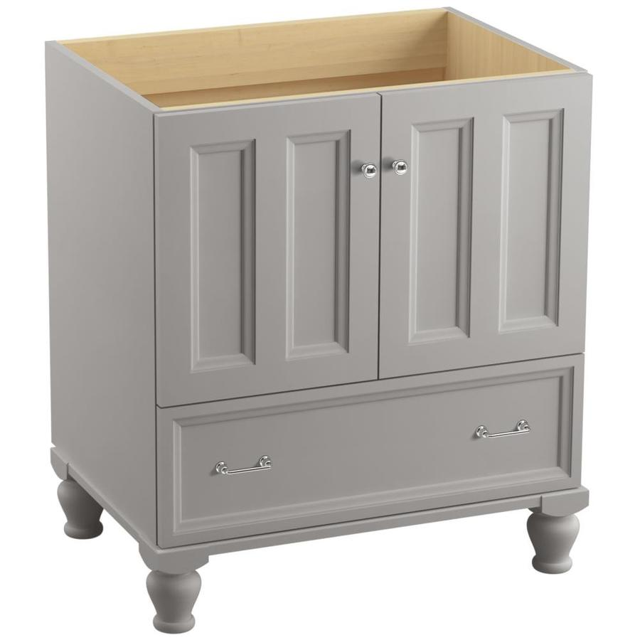 shop kohler damask freestanding mohair grey 30 in x traditional bathroom vanity at