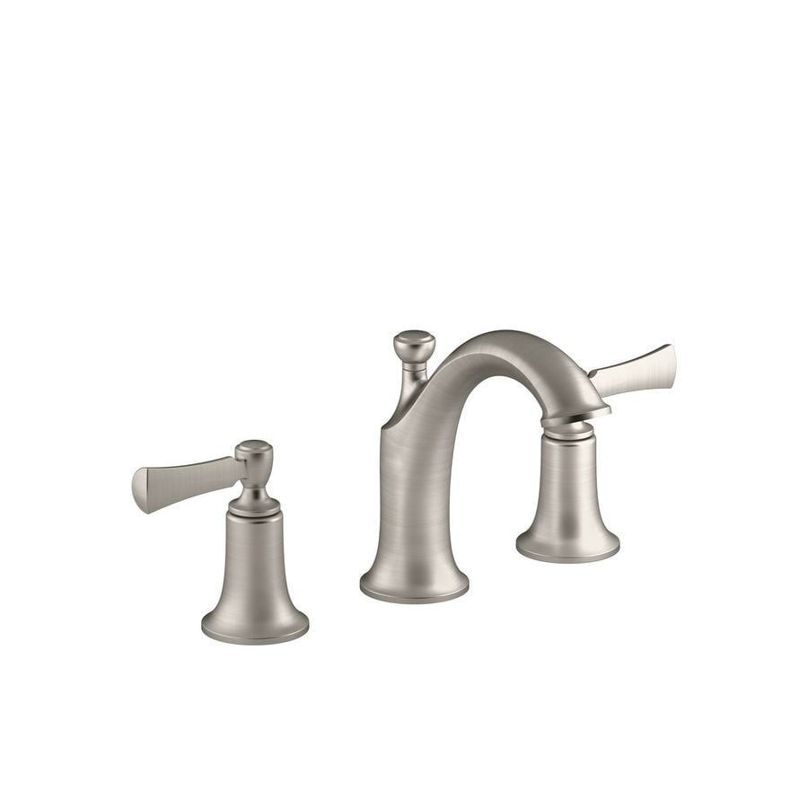 KOHLER Elliston Vibrant Brushed Nickel 2-Handle Widespread WaterSense Bathroom Faucet (Drain Included)