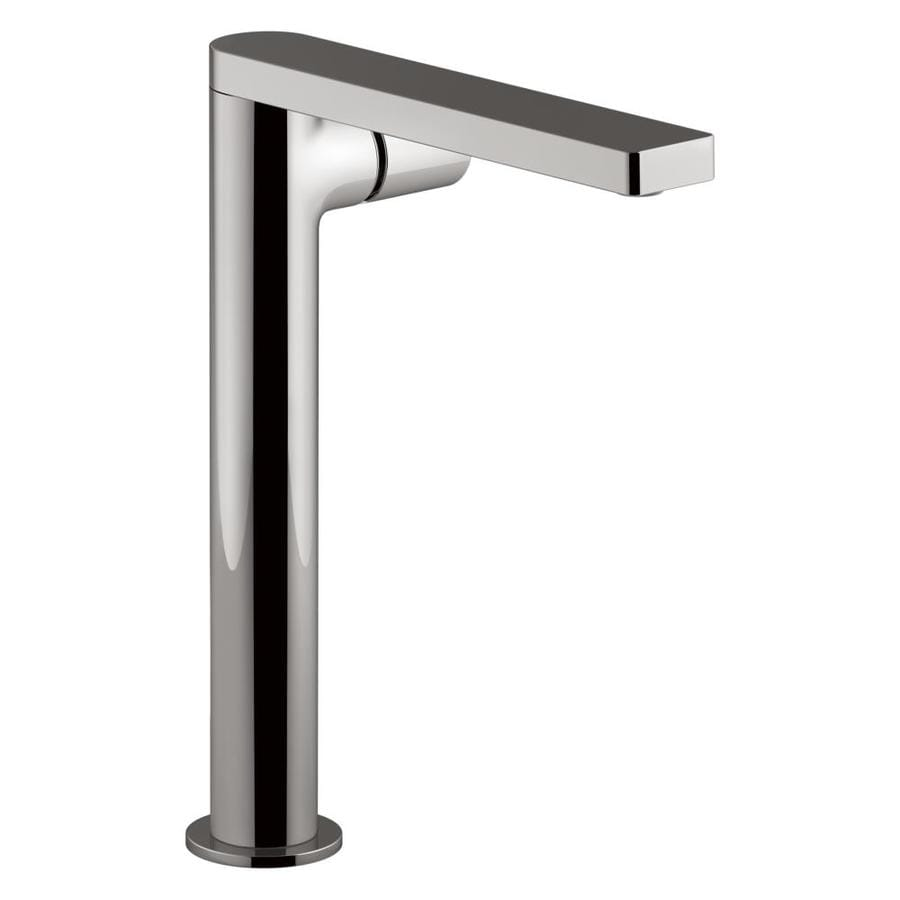 Shop KOHLER Composed Vibrant Titanium 1-Handle Single Hole Bathroom ...