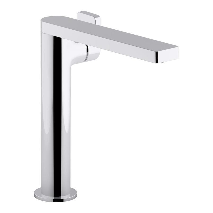 Shop kohler composed polished chrome 1 handle single hole bathroom sink faucet at for Kohler bathroom single hole faucets
